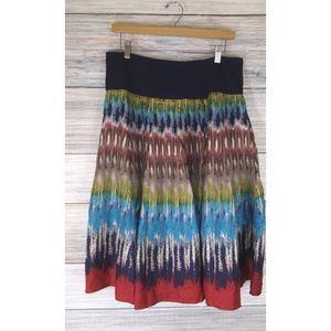 SILK TWILL Jones New York Collection Silk Skirt L